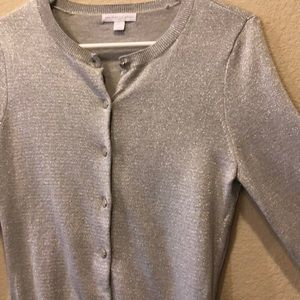 Silver sparkly NY&C Button-up Cardigan